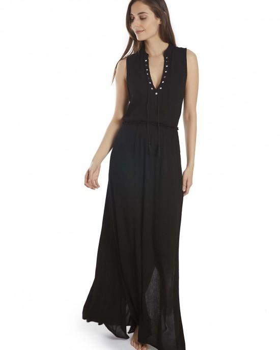 Rochie de plajă neagră din vâscoză by Selmark